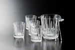 Set: 4 piece Glasses 300 ml,pail 1400 ml + ice tongs