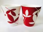 "A set of two mugs ""Red"" 450 ml"