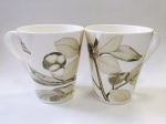"A set of two mugs  ""Golden flower"" 450 ml"