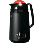 "Japanese thermos ""Partner""  with 1L glass bulb, color: black matt"