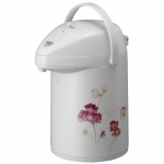 "Japanese thermos ""Sweet peas"" 2,2 L  with fanfare and with glass bulb"
