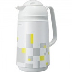 "Japanese thermos ""Modern White""  with 1L glass bulb"