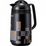"Japanese thermos  ""Modern Black""  with 1L glass bulb"