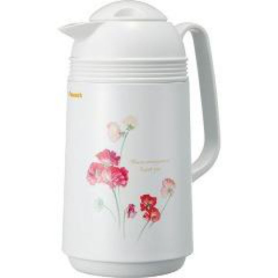 "Japanese thermos ""Sweet peas""  with 1L glass bulb"