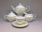 "Tea set  ""BEIGE ROSE"" of 17 items fo 6 persons"