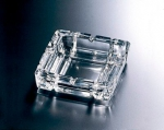 Glass ashtray 14 x14 cm