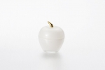 "Vase with lid ""Apple"" of 7.5*9 cm color: Silver"