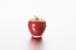 "Vase with lid ""Apple"" of 7.5*9 cm color: Red with gold"