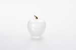 "Vase with lid ""Apple"" of 7.5*9 cm color: Matte gold"