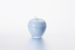 "Vase with lid ""Apple"" of 7.5*9 cm color: Blue"