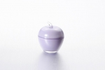 "Vase with lid ""Apple"" of 7.5*9 cm color: Lavender"