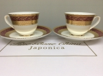 "A set of cups for two persons ""ROYAL RUBY"""