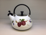 Japanese enamelled kettle with whistle 3 L, Series of Fruits