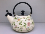 Japanese enamelled kettle with whistle 3 L, series of Provence
