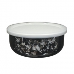Enamelled tray «Fuji Horo», series of «Sakura on the black»