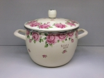 Japanese enamelled pan for 3 L, Rose series