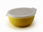 Porcelain tray with plastic lid color– Milk banana